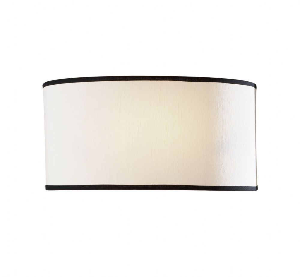 Ascott 1-light Cream shade Finish Wall Light ASC0733 (025178) (Class 2 Double Insulated)
